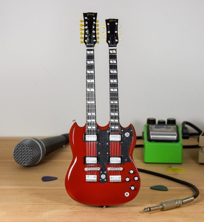 Led Zeppelin, Jimmy Page - Gibson SG Twin-neck (chrome trim)